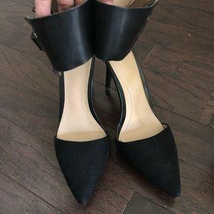 Zara Shoes Black Closed Toe Pump Ankle Cuff 40